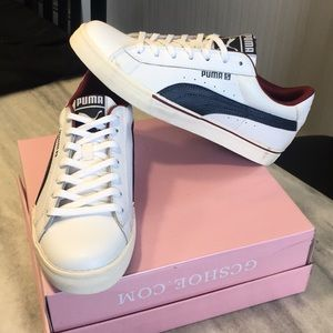 Puma White Leather Sneaker